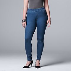 Plus Size Simply Vera Vera Wang Denim Leggings