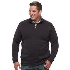 Big & Tall Croft & Barrow® Classic-Fit Outdoor Sweater Fleece Quarter-Zip Pullover