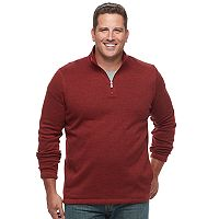Big & Tall Croft & Barrow® Classic-Fit Outdoor Sweater Fleece Quarter-Zip Pullover