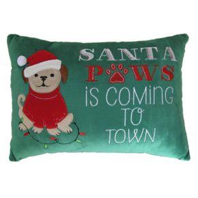St. Nicholas Square® ''Santa Paws'' Mini Oblong Pillow