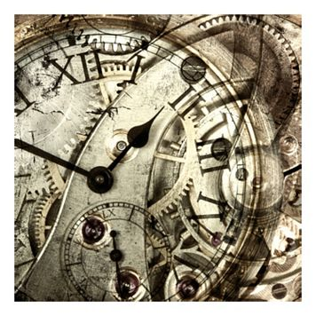 Vintage Clock Canvas Wall Art