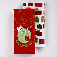 St. Nicholas Square® Meowy Christmas Kitchen Towel 2-pk.