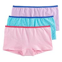 Girls 6-16 Hanes 3 pkSeamless Boyshort Panties