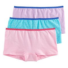 Girls 6-16 Hanes 3-pk. Seamless Boyshort Panties