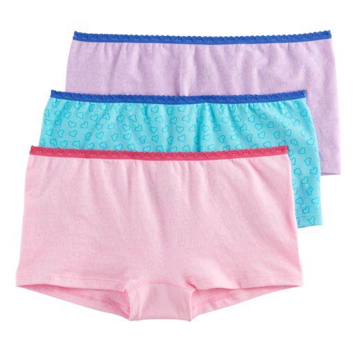 Girls 6-16 Hanes 3-pk. Seamless Boyshort Panties