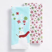 St. Nicholas Square® Snowflakes Kitchen Towel 2-pk.