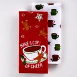 St. Nicholas Square® Cup Of Cheer Kitchen Towel 2-pk.