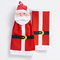St. Nicholas Square® Santa Tie-Top Kitchen Towel 2-pk.
