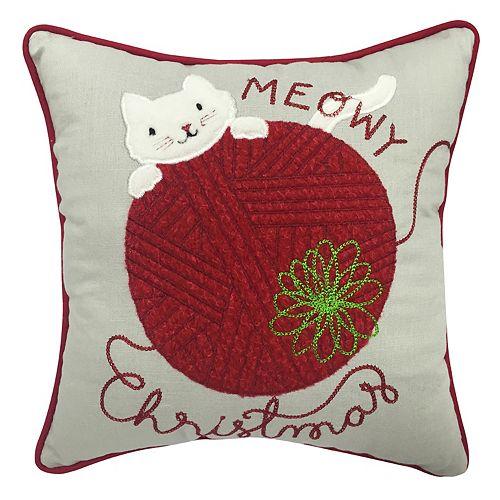 st nicholas square meowy christmas mini pillow