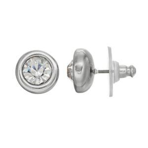 Simply Vera Vera Wang Nickel Free Simulated Crystal Round Stud Earrings