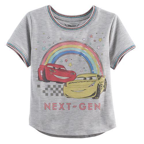 Disney / Pixar Cars 3 Lightning McQueen & Cruz Ramirez Toddler Girl Foiled Graphic Tee