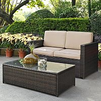 Crosley Furniture Palm Harbor Patio Loveseat & Coffee Table 2-piece Set