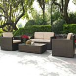 Crosley Furniture Palm Harbor Patio Loveseat & Arm Chair 3-piece Set