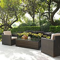 Crosley Furniture Palm Harbor Patio Arm Chair & Coffee Table 3-piece Set