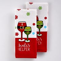 St. Nicholas Square® Santa's Helper Kitchen Towel 2-pk.