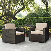 Crosley Furniture Palm Harbor Patio Arm Chair 2 pc Set