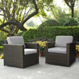 Crosley Furniture Palm Harbor Patio Arm Chair 2 pc Set