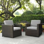 Crosley Furniture Palm Harbor Patio Arm Chair 2-piece Set