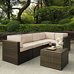 Crosley Furniture Palm Harbor Patio Sectional Chair & Coffee Table 6-piece Set