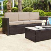 Crosley Furniture Palm Harbor Patio Sofa