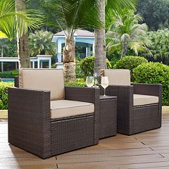 Crosley Furniture Palm Harbor Patio Arm Chair & End Table 3 pc Set