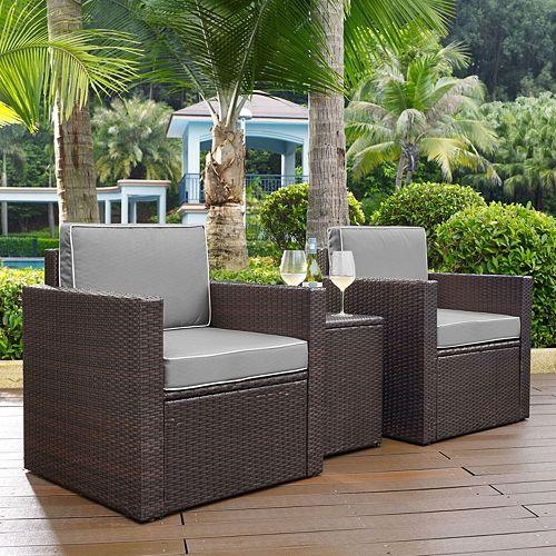 Crosley Furniture Palm Harbor Patio Arm Chair & End Table 3-piece Set