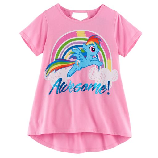 "Girls 7-16 My Little Pony Rainbow Dash ""Awesome"" Tee"