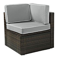 Crosley Furniture Palm Harbor Patio Corner Chair