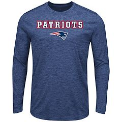 Big & Tall Majestic New England Patriots Long-Sleeve Tee