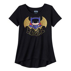 Girls 7-16 DC Comics Batgirl High-Low Hem Glitter Graphic Tee