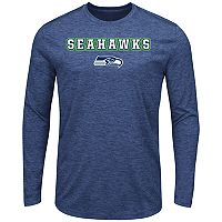 Big & Tall Majestic Seattle Seahawks Long-Sleeve Tee