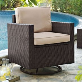 Crosley Furniture Palm Harbor Patio Swivel Rocking Chair