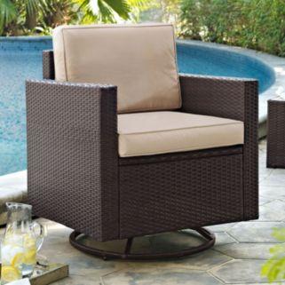 Crosley Furniture Palm Harbor Patio Swivel Rocking Chair
