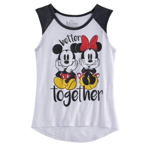 """Disney's Mickey Mouse & Minnie Mouse """"Better Together"""" Graphic Tee"""