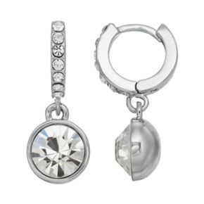 Simply Vera Vera Wang Simulated Crystal Hoop Earrings
