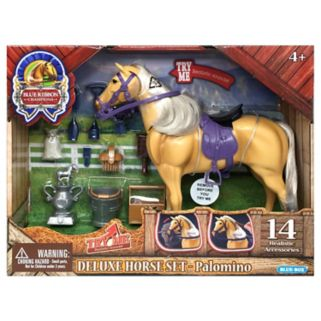 Blue Ribbon Champion Horses Palomino Deluxe Horse Set