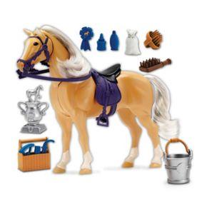 Blue Ribbon Champion Horses Palomino Deluxe Horse Set