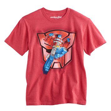 Boys 8-20 Optimus Prime Transformers Tee