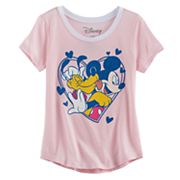 Disney's Mickey Mouse & Pluto Girls 7-16 Graphic Tee