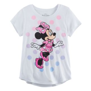 Disney's Minnie Mouse Skipping Girls 7-16 Glitter Graphic Tee