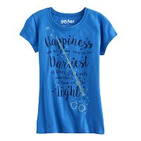 Girls 7-16 Harry Potter Glitter Wand & Glasses Graphic Tee