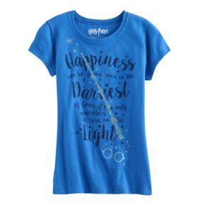 Girls 7-16 Harry Potter Glitter Wand & Glasses Graphic Tee