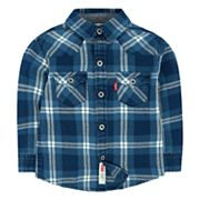 Boys 4-7 Levi's® Barstow Western Plaid Button Down Shirt