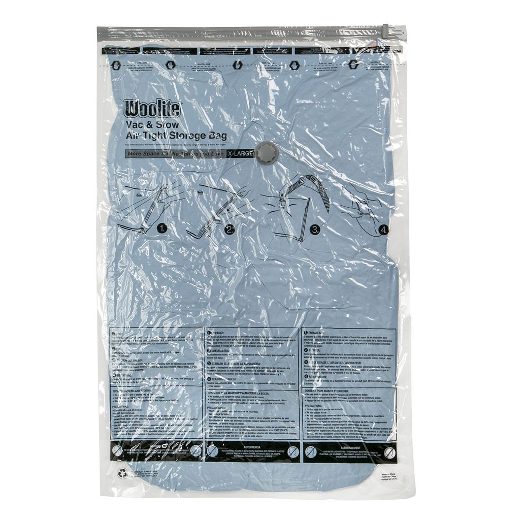 Woolite 3-piece Vac & Stow Airtight Vacuum Storage Bag Set