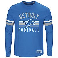 Big & Tall Majestic Detroit Lions Striped Football Tee