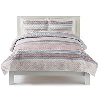 The Big One® Banded Multi Print Quilt Set