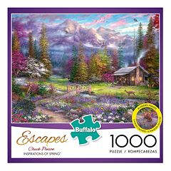 Buffalo Games 1000 pc Chuck Pinson Escapes Inspirations of Spring Jigsaw Puzzle