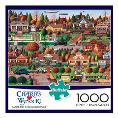 Buffalo Games 1000 pc Charles Wysocki Labor Day in Bungalowville Jigsaw Puzzle