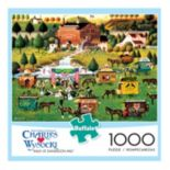 Buffalo Games 1000-pc. Charles Wysocki Rally at Dandelion Mill Jigsaw Puzzle