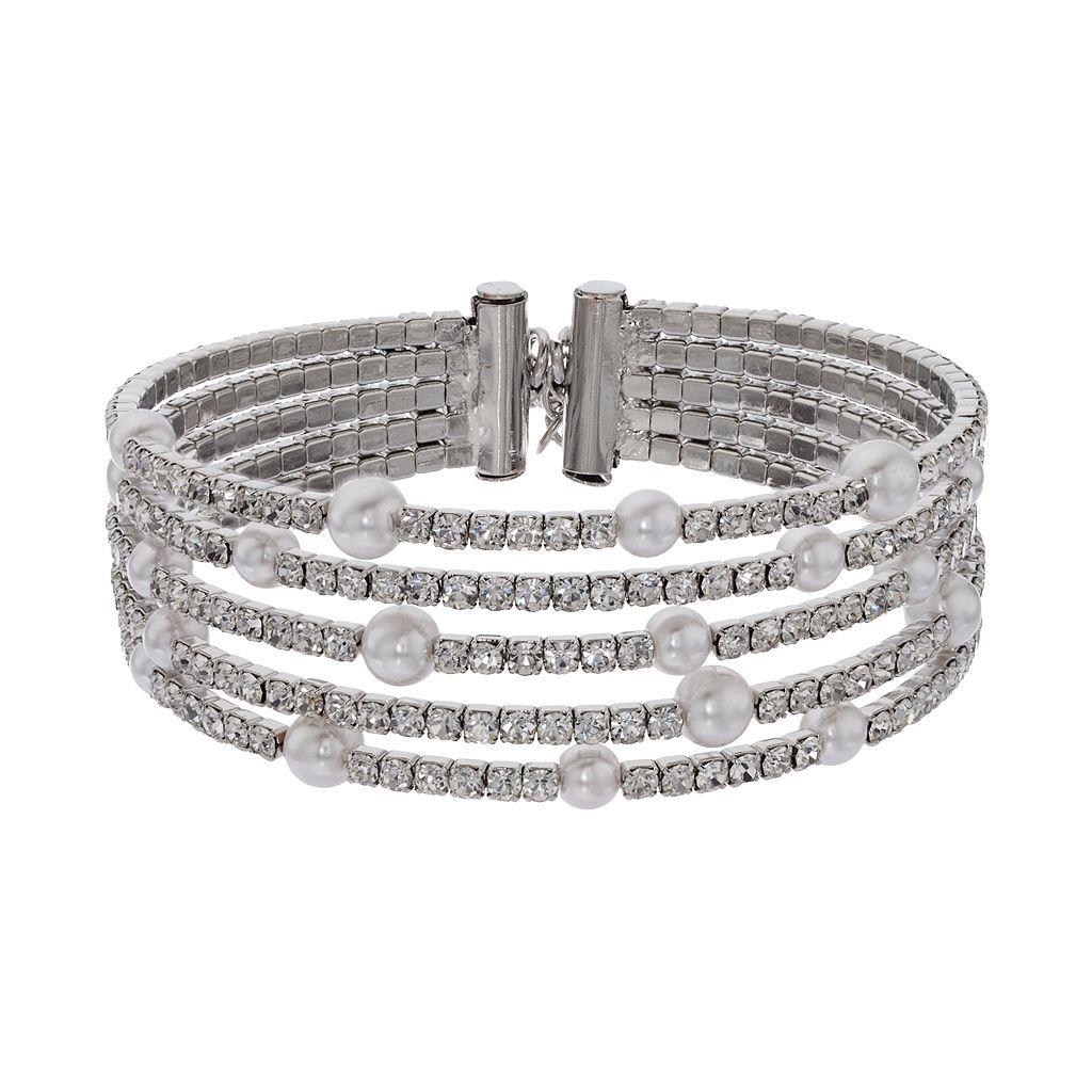 Simply Vera Vera Wang Simulated Crystal Multi Row Bracelet